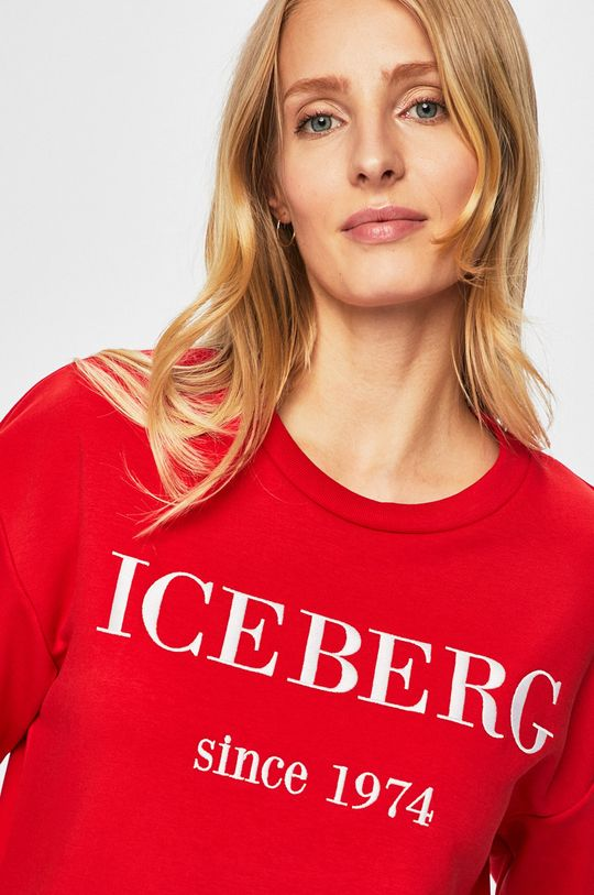 czerwony Iceberg - Bluza Damski