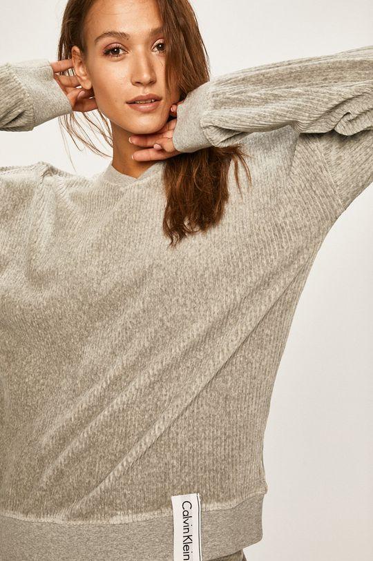světle šedá Calvin Klein Underwear - Pyžamová mikina