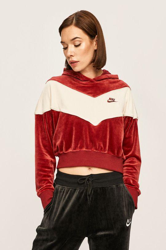 kaštanová Nike Sportswear - Mikina Dámský