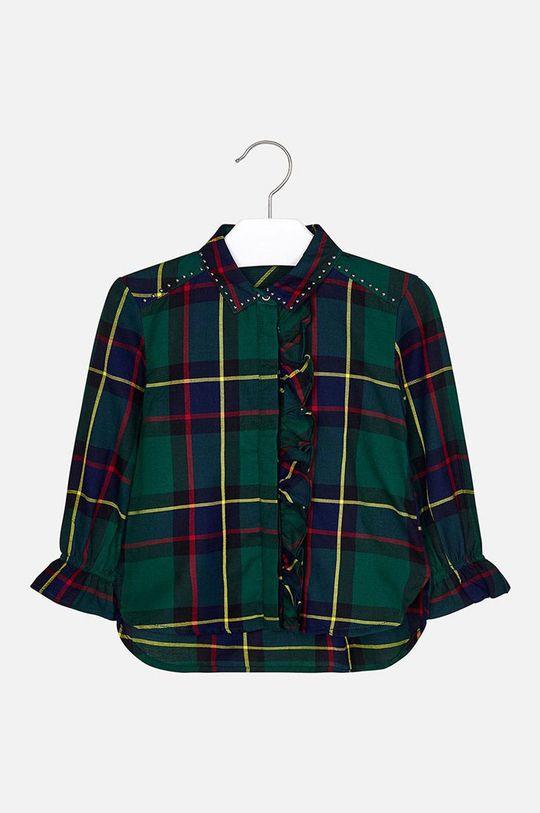 Mayoral - Detská košeľa 92-134 cm tmavozelená