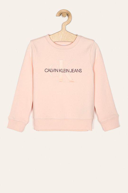 pastelová ružová Calvin Klein Jeans - Detská mikina 104-176 cm Dievčenský