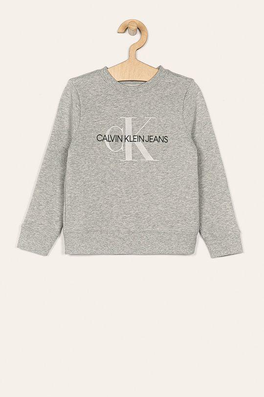 svetlosivá Calvin Klein Jeans - Detská mikina 104-176 cm Dievčenský