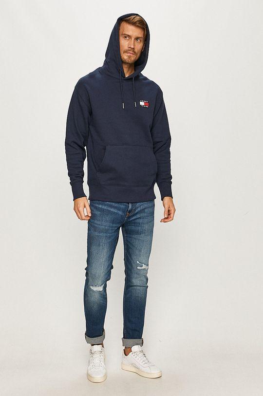 Tommy Jeans - Hanorac de bumbac bleumarin