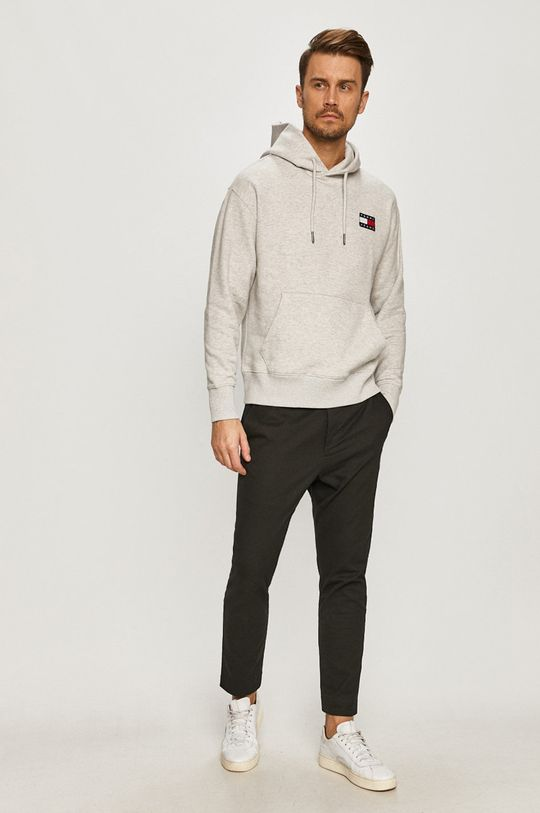 Tommy Jeans - Hanorac de bumbac gri