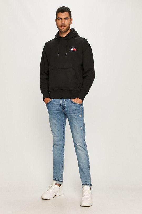 Tommy Jeans - Bavlnená mikina čierna