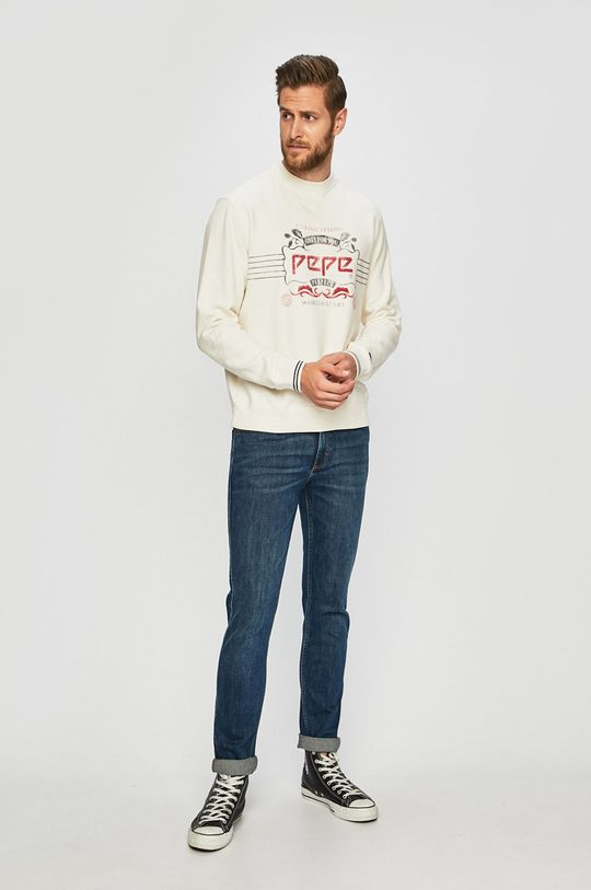 Pepe Jeans - Mikina bílá