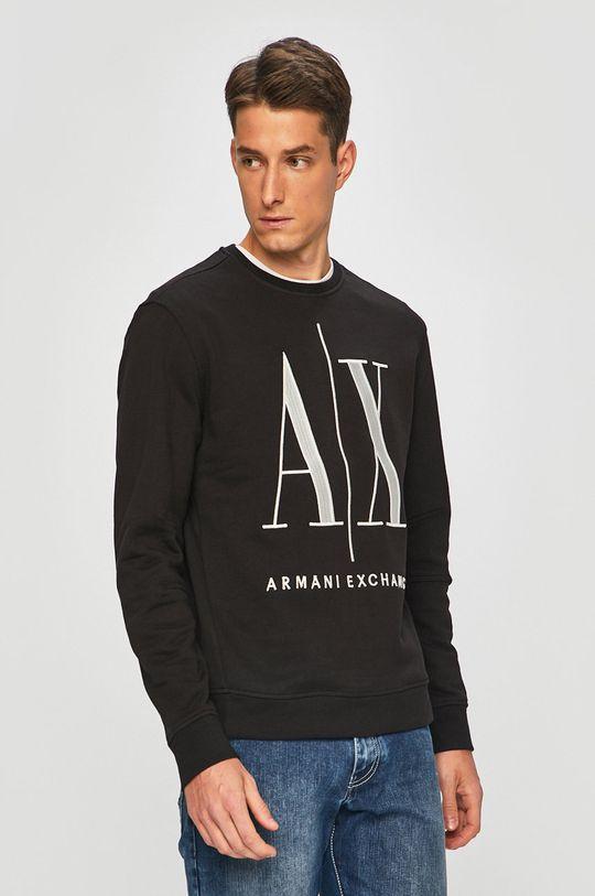 czarny Armani Exchange - Bluza