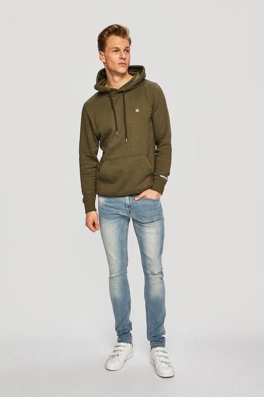 Calvin Klein Jeans - Mikina olivová