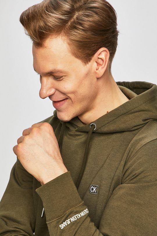 olivová Calvin Klein Jeans - Mikina