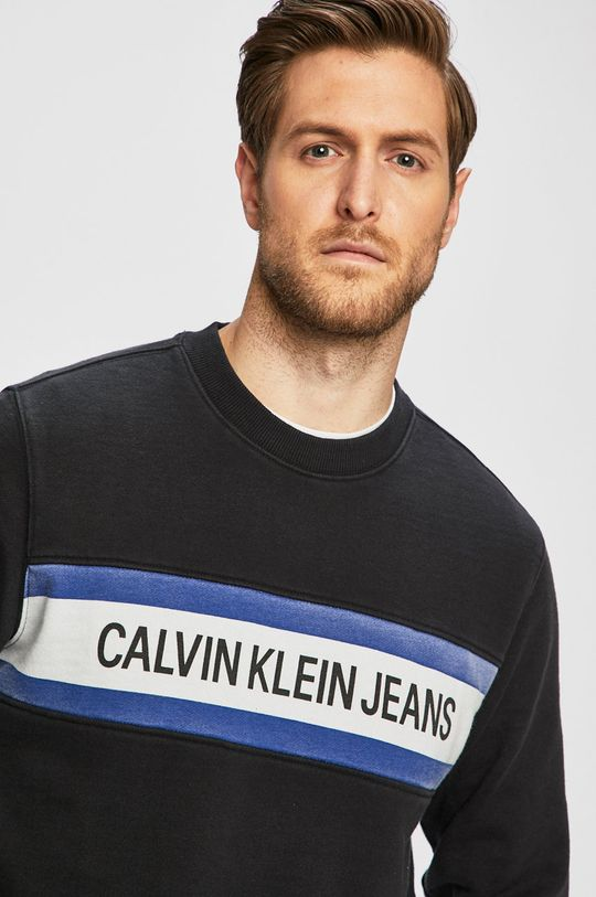 černá Calvin Klein Jeans - Mikina Pánský