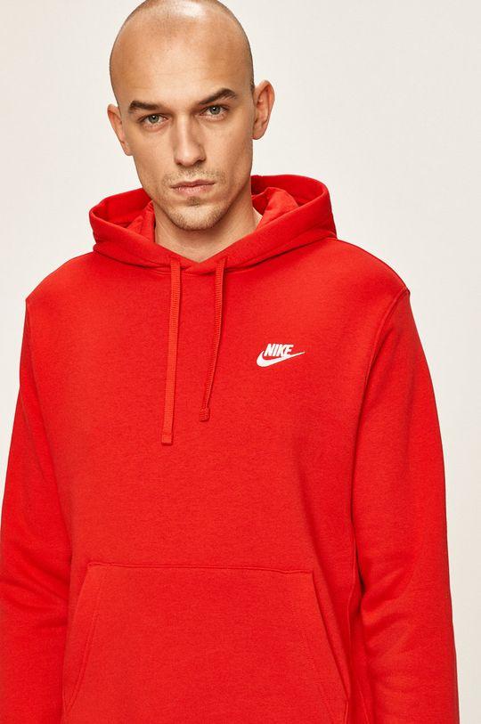 červená Nike Sportswear - Mikina Pánský