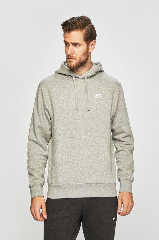 šedá Nike Sportswear - Mikina Pánský