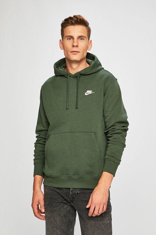 ocelová zelená Nike Sportswear - Mikina Pánský