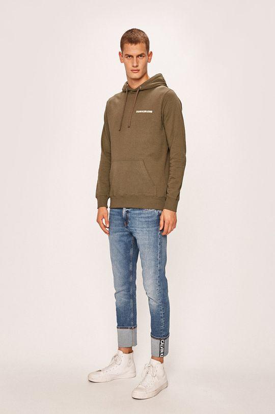 Calvin Klein Jeans - Mikina zelená