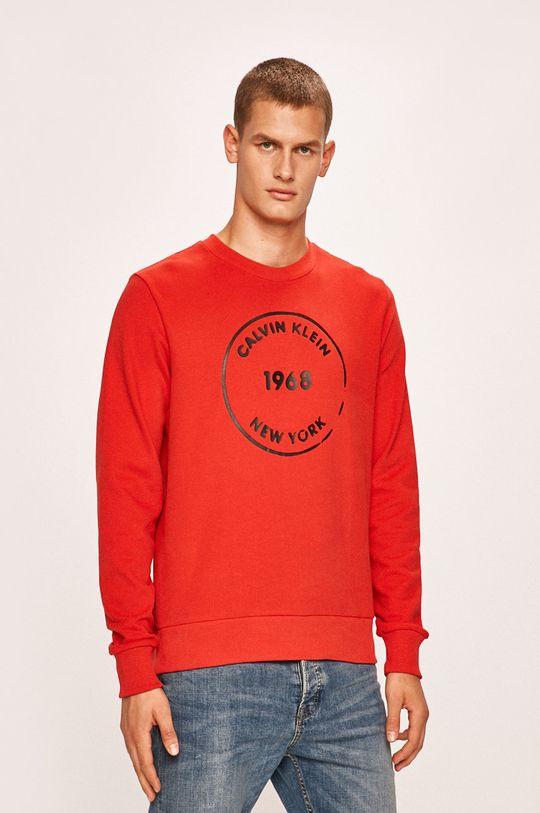 červená Calvin Klein - Mikina Pánský
