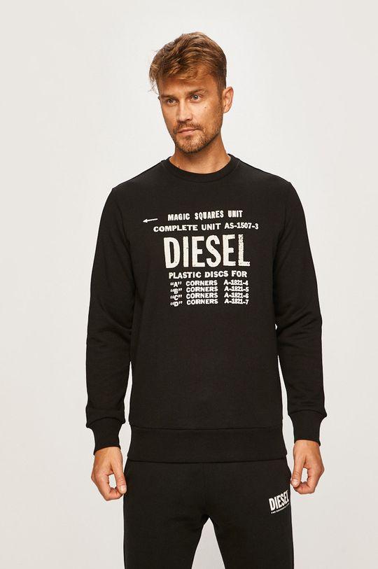 čierna Diesel - Mikina Pánsky