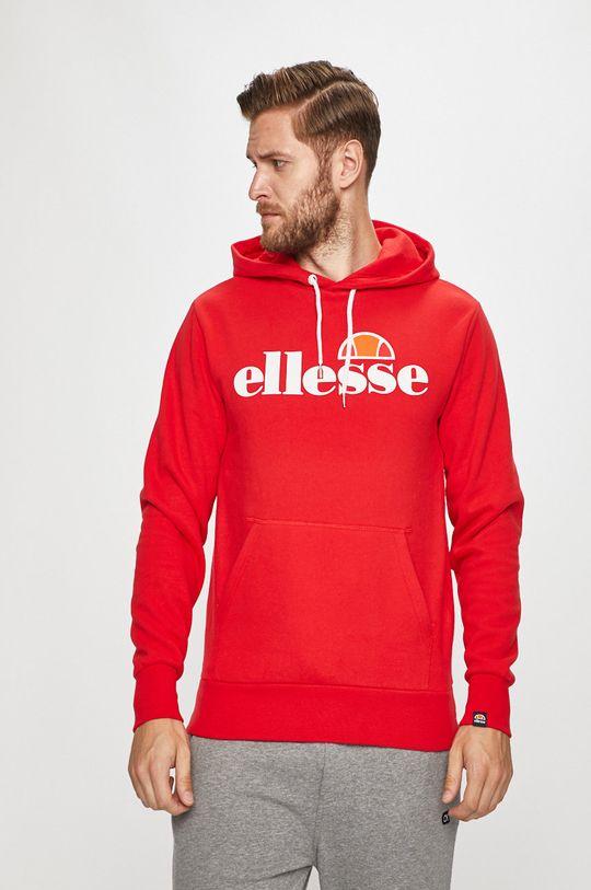czerwony Ellesse - Bluza Męski