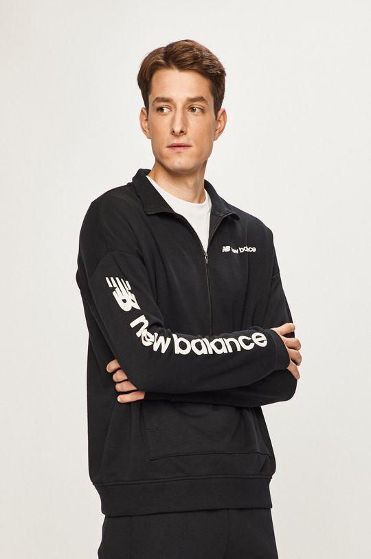 czarny New Balance - Bluza Męski