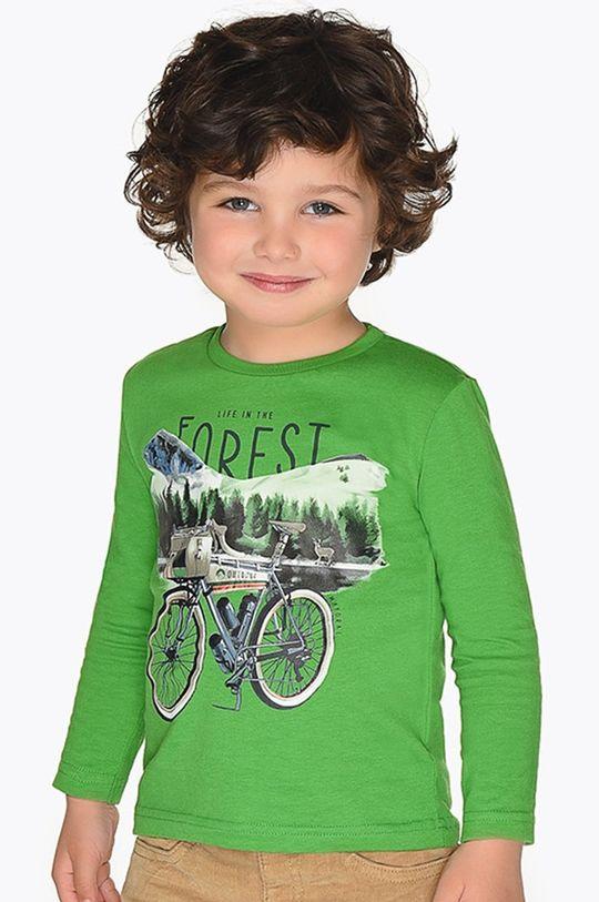 tmavozelená Mayoral - Detské tričko s dlhým rukávom 92 - 134 cm Chlapčenský