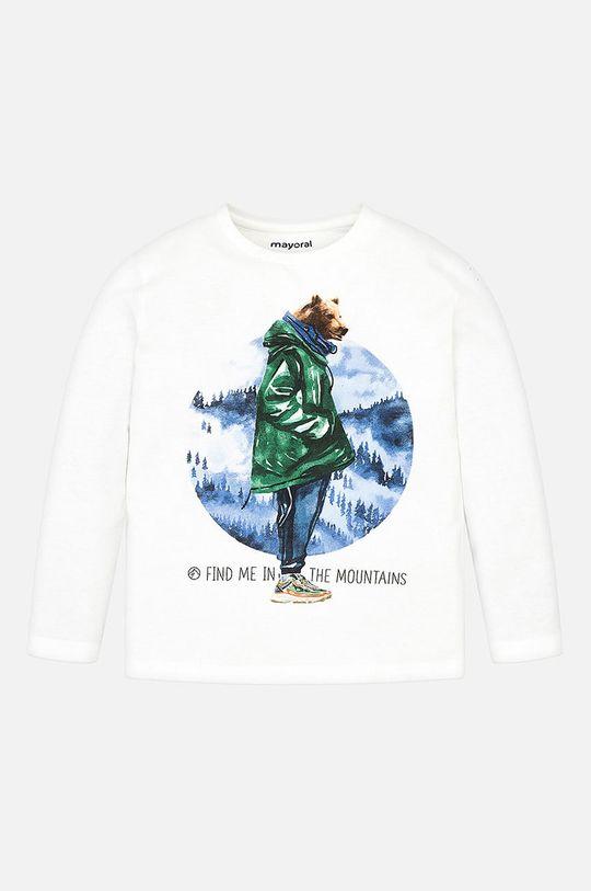 Mayoral - Detské tričko s dlhým rukávom 92 - 134 cm biela