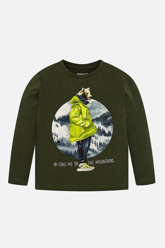grafitová Mayoral - Detské tričko s dlhým rukávom 92 - 134 cm Chlapčenský