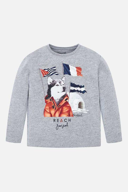 Mayoral - Detské tričko s dlhým rukávom 92-134 cm svetlosivá