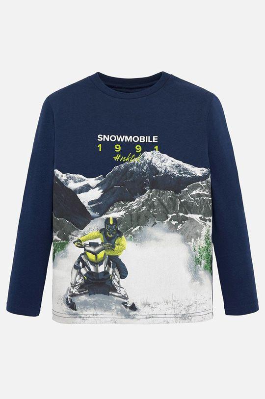 modrá Mayoral - Detské tričko s dlhým rukávom 128-172 cm Chlapčenský