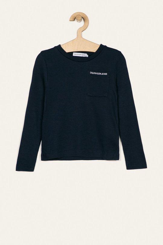 tmavomodrá Calvin Klein Jeans - Detské tričko s dlhým rukávom 104-176 cm Chlapčenský