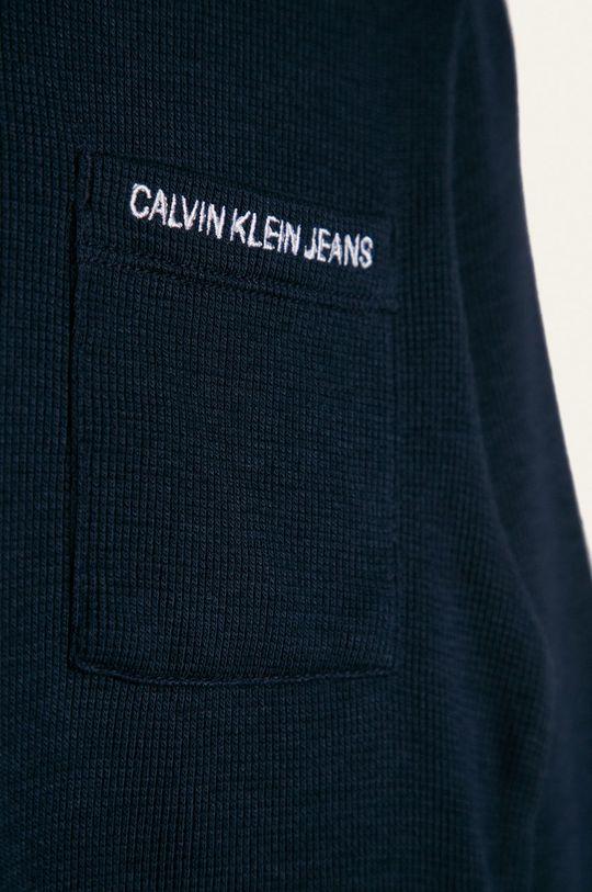 Calvin Klein Jeans - Detské tričko s dlhým rukávom 104-176 cm tmavomodrá