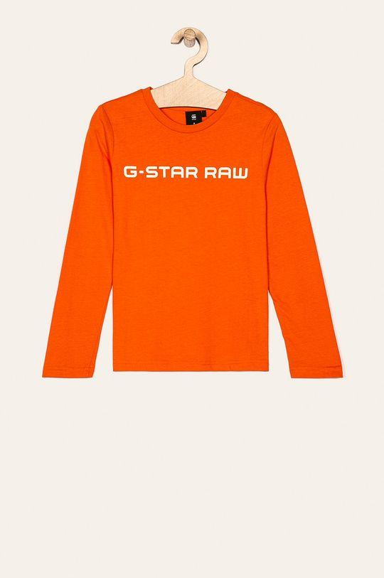 mandarínková G-Star Raw - Detské tričko s dlhým rukávom 128-176 cm Chlapčenský