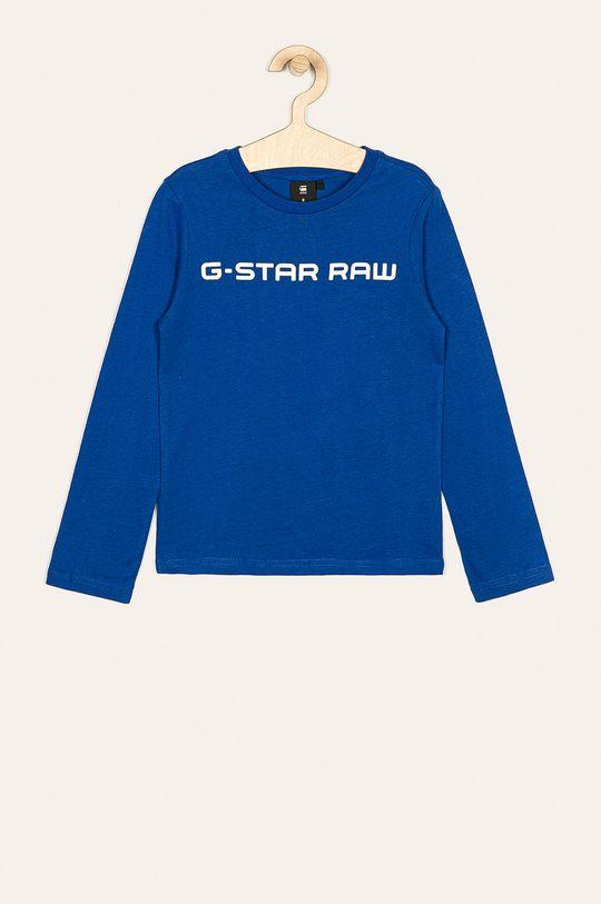 modrá G-Star Raw - Detské tričko s dlhým rukávom 128-176 cm Chlapčenský
