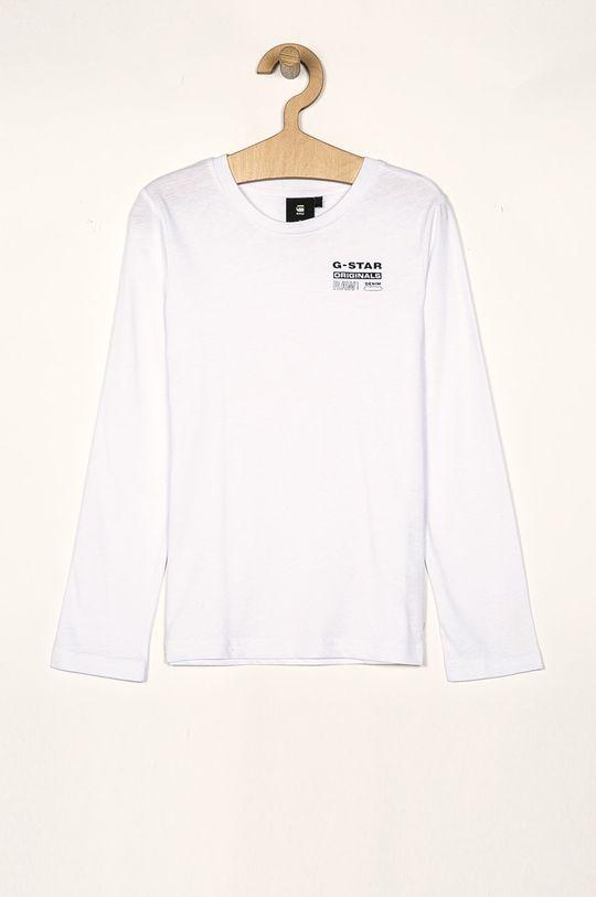 biela G-Star Raw - Detské tričko s dlhým rukávom 128-176 cm Chlapčenský