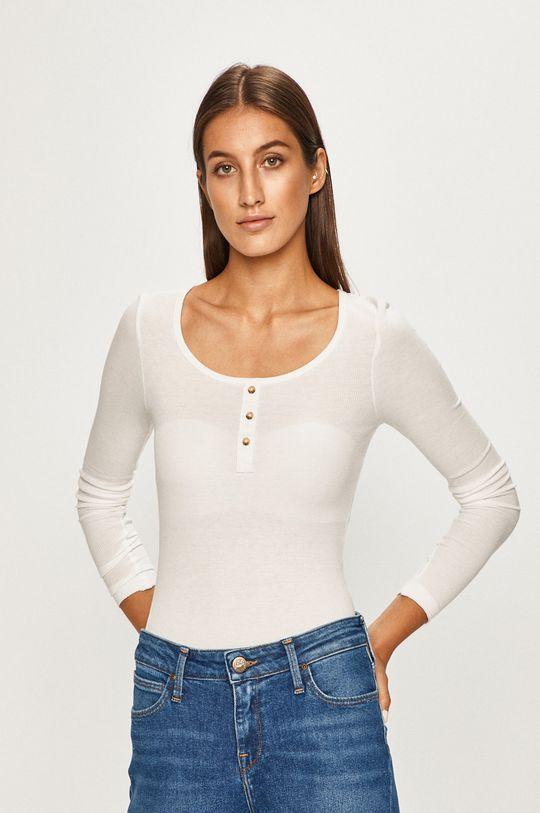 bílá Only - Tričko s dlouhým rukávem Dámský