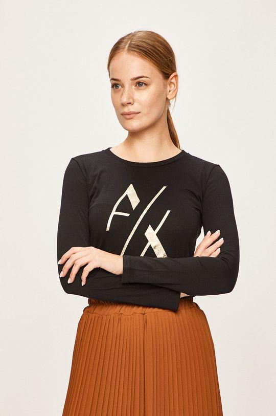 čierna Armani Exchange - Tričko s dlhým rúkavom Dámsky