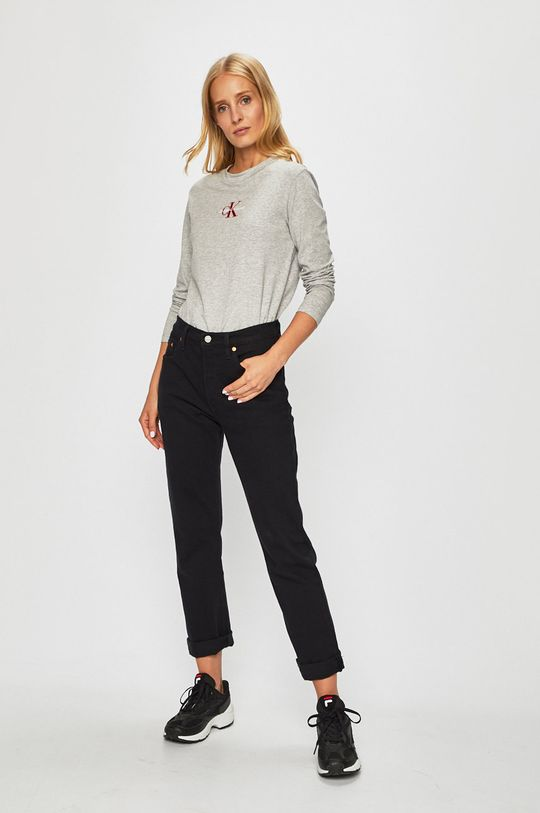 Calvin Klein Jeans - Tričko s dlouhým rukávem šedá