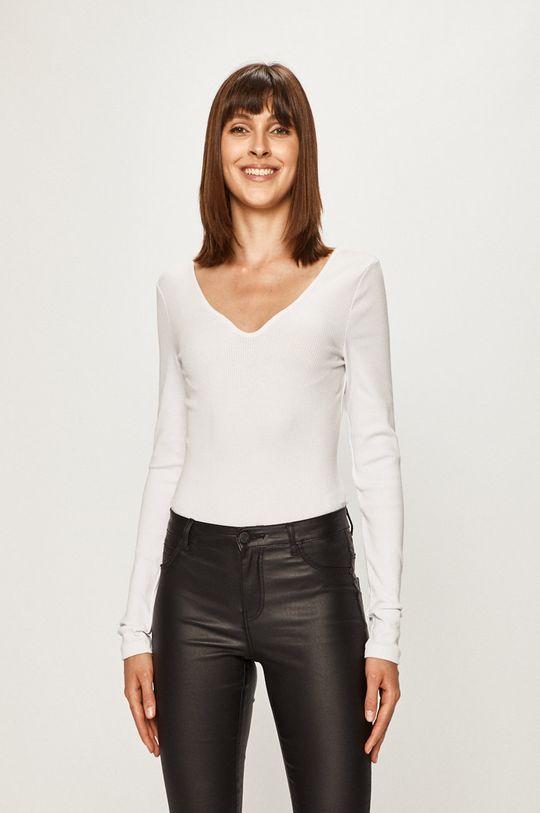 biela Pieces - Tričko s dlhým rukávom 17100026 Dámsky