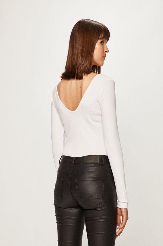 Pieces - Tričko s dlhým rukávom 17100026  5% Elastan, 95% Polyester