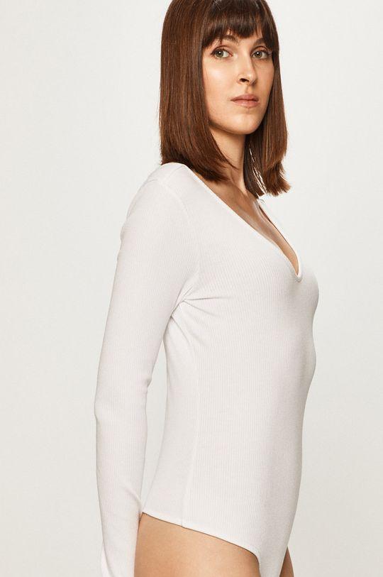 biela Pieces - Tričko s dlhým rukávom 17100026