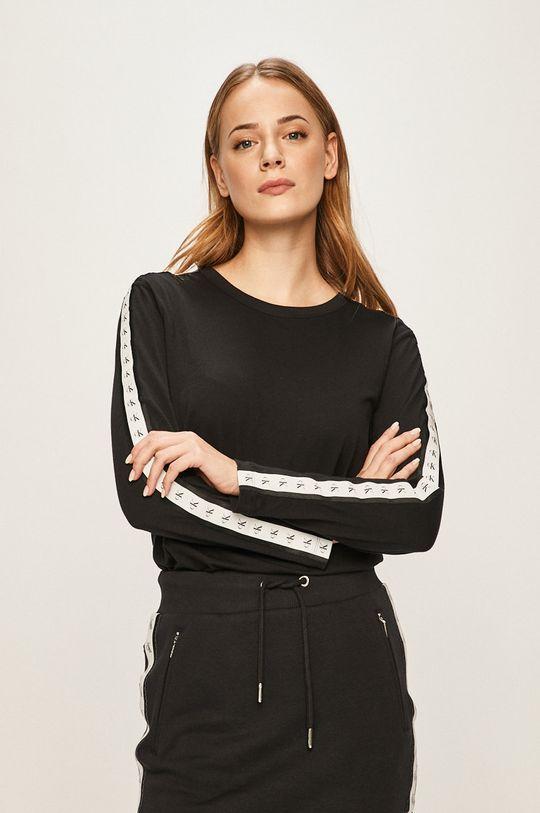 čierna Calvin Klein Jeans - Tričko s dlhým rúkavom Dámsky