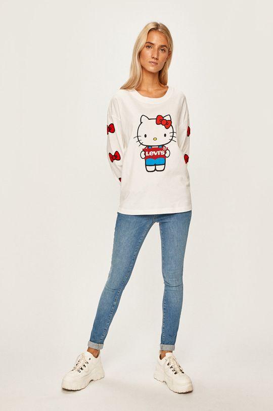 Levi's - Tričko s dlhým rúkavom x Hello Kitty biela
