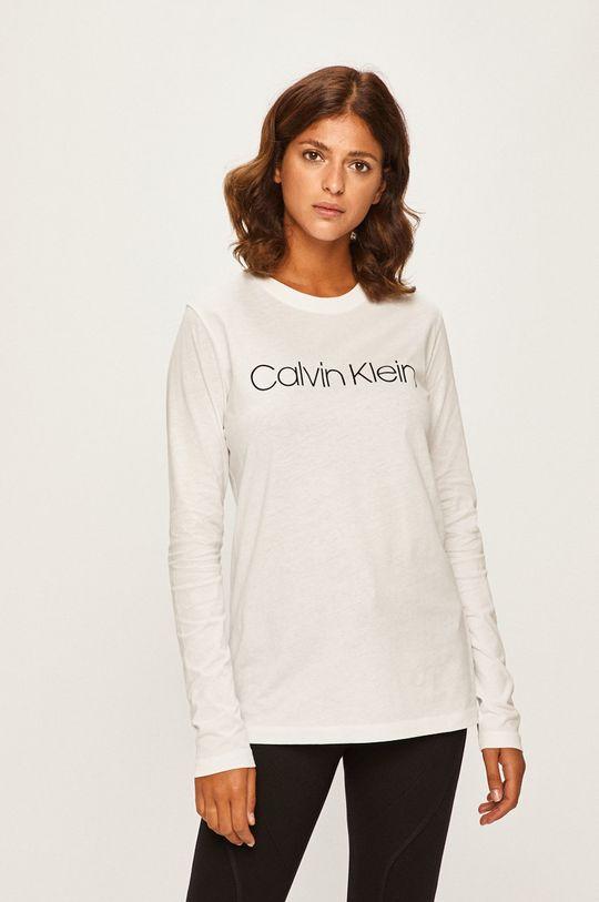 biela Calvin Klein - Tričko s dlhým rúkavom Dámsky