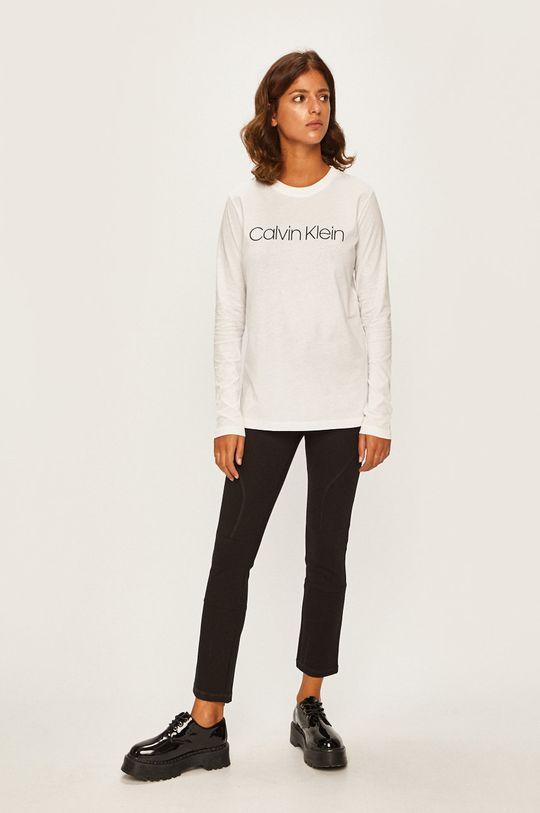 Calvin Klein - Tričko s dlhým rúkavom biela