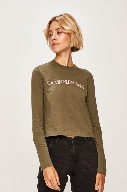verde Calvin Klein Jeans - Longsleeve De femei