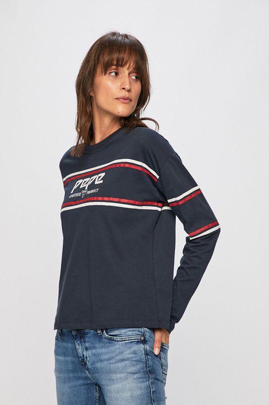 námořnická modř Pepe Jeans - Tričko s dlouhým rukávem Dámský
