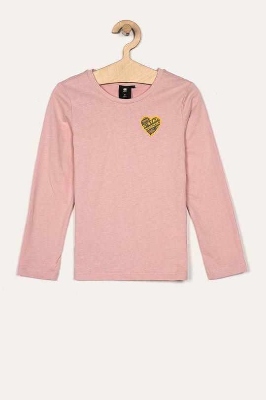 ružová G-Star Raw - Detské tričko s dlhým rukávom 128-164 cm Dievčenský