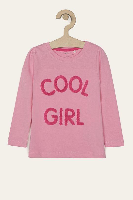 ružová Name it - Detské tričko s dlhým rukávom 92-128 cm Dievčenský