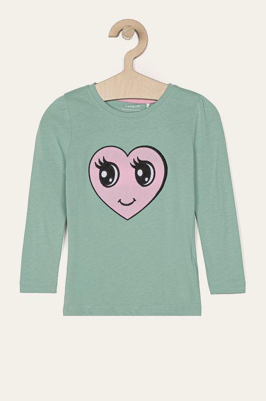 zelená Name it - Detské tričko s dlhým rukávom 92-128 cm Dievčenský