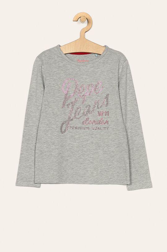 sivá Pepe Jeans - Detské tričko s dlhým rukávom 128-178 cm Dievčenský