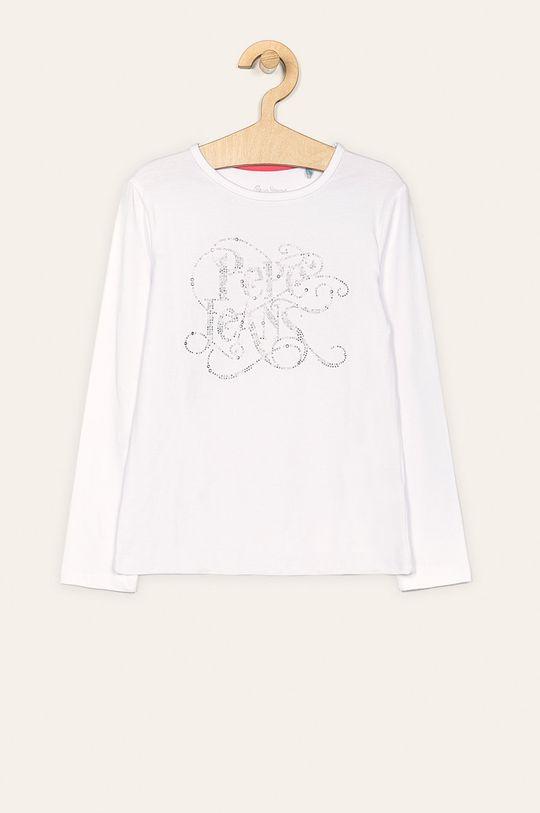 biela Pepe Jeans - Detské tričko s dlhým rukávom Makeba 128-180 cm Dievčenský