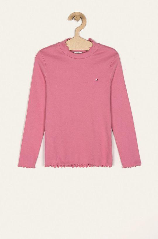 розов Tommy Hilfiger - Детска риза с дълги ръкави 110-176 cm Момиче